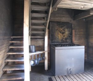 Inside of the Finnish Smoke Sauna - chosen the best 2015